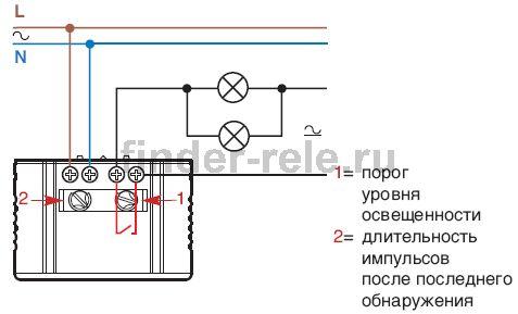 Схема подключения датчика движения для освещения серии 18.21.
